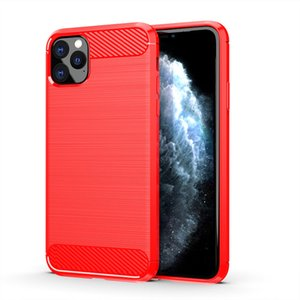 Case For iPhone 11 PRO MAX XS MAX XR Galaxy Note 10 S10 PLUS S9 S8 PLUS Brush Protective Carbon Fiber Case Cellphone Soft Cases with OPP Bag
