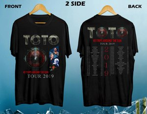Новый Toto 40 вокруг Солнца Tour 2019 Black тенниска S-5xl T Shirt Men Black Designer Homme подарки T-Shirt Топы Тиса