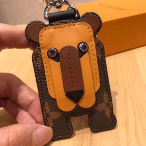 designer Unisex luxury Keychain Wallet pendant bag car chain female gift key ring lady lion leather key 88053