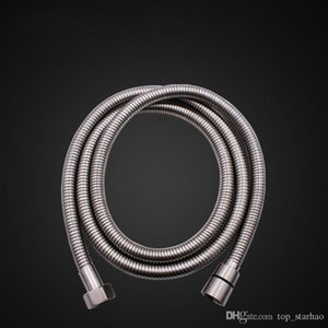 Top Quality 1.5m Flexible Stainless Steel Chrome Standard Shower Head Bathroom Hose Pipe Free DHL HH9-2581