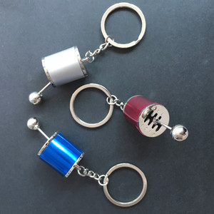 1 Pieces Creative Car Gear Keychain Keyring Metal Pendant Key Chain 6 Speed Manual Gear Transmission Gearbox Auto Keyring ps0508
