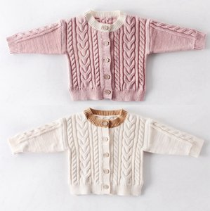 Baby Knitted Cardigan Single Breasted Newborn Girls Coats Long Sleeve Toddler Outwears Infant Boy Sweaters Winter Baby Clothing BT4475