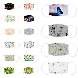 Individual butterfly print designer face mask adjustable protective mask dust and haze with PM2.5 filter cross-border breathable face masks