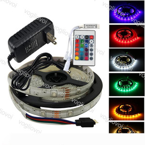 Led Strip Light 5050 DC12V 600LED Multicolor Fiexble Light 24keys Waterproof Super Bright For HDTV TV Desktop Screen Background EUB