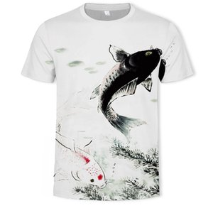 Taobao transfrontalière goods Source 3D Impression numérique camouflage Sketch été et automne Mens T-shirt subsides en gros