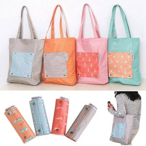 Foldable Shopping Bags Quick Dry Large Capacity Reusable Storage Bag Shoulder Tote Bags Travel Organizer 4Colors HH9-2255