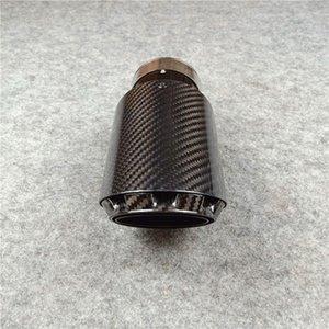 1 Parte novos três camadas Universal Único Exhaust Muffler Dica Glossy Black Stainless Steel Car Voltar Exhaust System