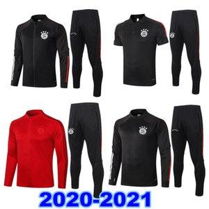2020/21 jaquetas de futebol Bayern treino de futebol survêtement 2020 2021 Munique LEWANDOWSKI MULLER completa zipper fato de treino jaqueta camisa Polo