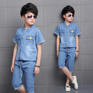 JMFFY Baby Boy Vêtements 2020 New Style Coton Chemises Pantalons Jeans 2PCS été Set enfants Costumes garçons Tenues Vêtements pour enfants Cowboy