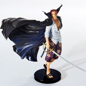 One Piece 19cm Anime Figure Shanks Grand Line The Battle Over The Dome Red Hair PVC Action Figure Collectible Model Toys Doll T200713