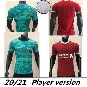 Spielerversion Home Rot Eway Green Top Thailand Mohamed Fussball Jersey Football Hemden 20 21 Virgil 2020 2021 Männer