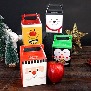 12pcs, Christmas Apple Gift Set, Candy Bag Tote Bag Kindergarten Snack Box Nougat, Santa Claus, ELK, Penguin, Bear, Party Decor
