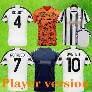 3 # Jugador versión 2020 2021 7 # 10 # 21 # jerseys del fútbol los hombres kit XXL 20 21 Camiseta de fútbol rojo verde blanco negro uniforme de fútbol