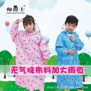 QiBRu New jazz bonito inodoro grande borda de proteção ambiental impermeável de alta qualidade Saco Cloak capa de crianças com uma grande mochila p