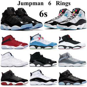 Nouveau Anneaux de Jumpman Chaussures de basket Hommes Femmes space jam blanc bleu clair Fury Cyber CONCORD gymnase Formateurs confettis cool rouge sneakers gris