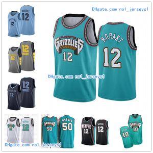 Mens vintageMemphisnbaGrizzlies Ja 12 Morant Vancouver Jersey 10 Mike Bibby 50 Reeves Shorts costurado Basketball Jerseys