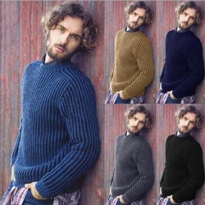 20FW мужские Конструкторы свитер вскользь сплошной цвет с длинным рукавом Толстовка Теплой осенью новых людьми Дизайнер одеждой