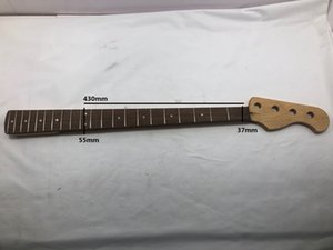 Electric bass neck, maple and rosewood