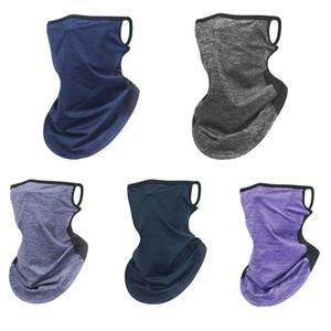 Verão ao ar livre Ciclismo Proteção UV de suspensão Ear Scarf cobrir o rosto botina de pescoço elástico respirável Neck Gaiter face Scarf