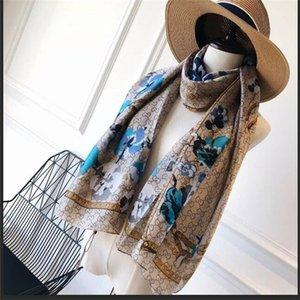 women silk scarves female chiffon fashion wrap ladies floral printed shawl Beach