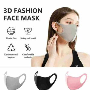 5 Colors Anti Dust Face Mouth Cover Anti-fog Mask For Adults Dustproof Breathable Washable Reusable Masks Ice Silk Masks ZZA1866Ice Silk Mas