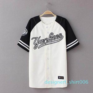 Wholesale-2016 New Summer Hip Hop Sports Fashion Baseball T shirt Korean style Loose Unisex Mens Womens Tee Tops Tide mujeres camiseta d06