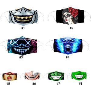 Yaratıcı Moda toz geçirmez Yüz Evil vahşi Baskı Karşıtı Sis Ağız Kapak Katlanabilir Ölçeklenebilir Yıkanabilir Yeniden kullanılabilir Aduts Maske