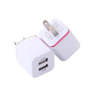 TOP Metal Dual USB wall Charging Charger US EU Plug 2.1A AC Power Adapter Wall Charger Plug 2 port