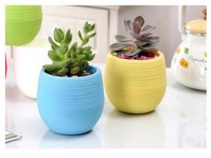 2020 Mini Rodada Plastic suculenta mesa Pot Plant Flower Garden Home Office Decor Micro Landscape Planter vaso inquebrável