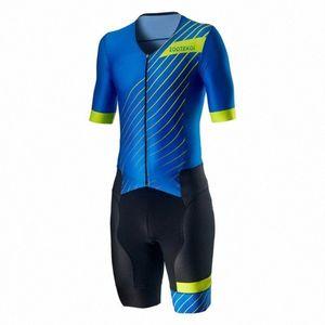 2020 2020 ZOOTEKOI Triathlo skinsuit Ciclismo Sets Trisuit manga curta MTB Roupa bicicleta Jersey Ropa Ciclismo Hombre 6AFA #