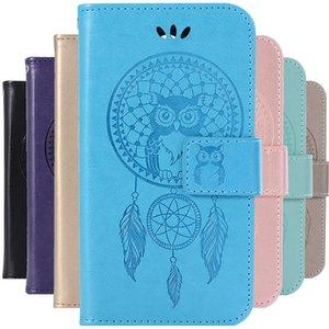 Luxury Leather Cases For Xiaomi Redmi 4A 4 4X 5A 5 5plus S2 6 6Pro MI 5S 6 5X 6X 9 F1 case Flip Owl wind chimes phone case coque