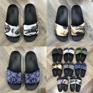 Трусы Женщины госпредприятий сандалии лето 2020 Flat госпредприятий PU Литер Гладиатор Soe Женщины Deners Zapatos De Mujer L03 # 804 # 318 # 247