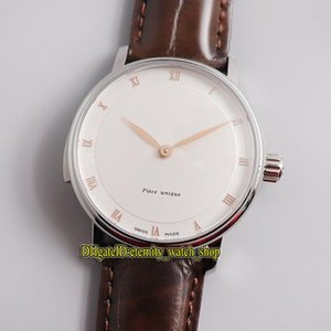 White Dial Automatic Mechanical Mens Watch Steel Case Spring palace Leather Luxury Watches