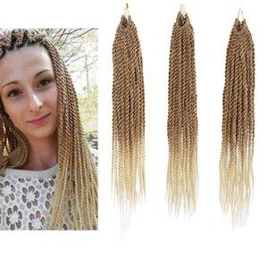 18inch 6 Packs lot Ombre Senegalese Twist Crochet Hair Braids Small Havana Mambo Twist Crochet Braiding Hair Senegalese Hair 30strands pack