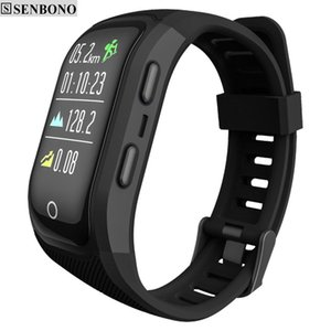 Senbono S908s Color Screen Activity Fitness Tracker Smart Band Ip68 Waterproof Gps Heart Rate Monitor Sport Wristband Bracelet J190522