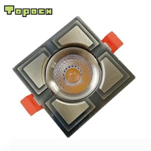 Topoch LED COB Downlight 7W CREE Bronze Golden Finish CNC Machining Aluminum Spring Clips Mount 30 Degree Beam for Interior Lighting