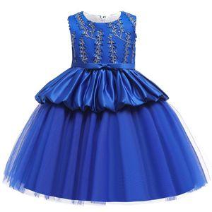 Dress Cosplay ragazza principessa Dress Kid Halloween Carnival Snow Queen Elza vestiti blu del partito Ragazze