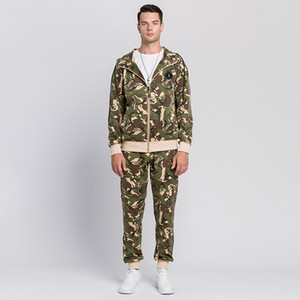 Camouflage Mens Tracksuit Tracksuit for Men Autumn Winter New Man Two Piece Set Sweatsuit Male Mens Hoodie Jacket and Sweatpants
