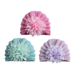 3 Pcs Knitted Baby Hats Bonnet Enfant Photography Props Baby Beanie Turban Hats Newborn Caps Gifts