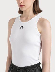 Marine Serre Jackson Yi Crescent couleur unie base lune de base sans manches gilet gilet été femme vêtements de plein air