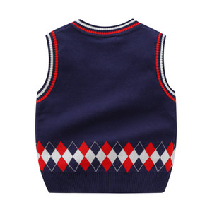 Toddler Boy Vest Cardigan Knitted Sweater spring Autumn Baby Sweater Vest Girls Cotton Waistcoats Sleeveless Kids boys Clothing