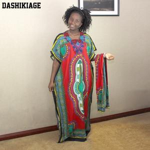 Dashikiage New Fashion Women Traditional African Print Dashiki Party Plus Size Long Dress T200713
