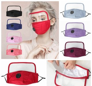 2 in 1 Valve Face Mask With Eye Shield Dustproof Washable Cotton Valve Mask Protective Face Shield Cycling Reusable Face Masks RRA3305