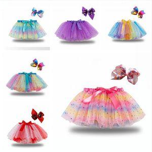 Mode Baby-Kind-Rock-Mädchen-Prinzessin Stern Glitter Tanzröckchen-Rock-Kinder Chiffon Pailletten Partei-Tanz-Ballett-Röcke DDA217