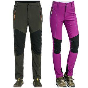 Nuevos Hombres Pantalones de senderismo para mujer Summer Seco rápido Pantalones deportivos al aire libre Pantalones de montaña Escalada transpirable Impermeable Pantalones Elásticos PN30