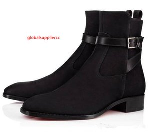 2019 High Quality Red Bottom Men Causal Naked boots High Top men s Shoes Fashion Brand Women Flat Comfortable Fashion Knight boots