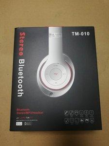 New TM-010 HD Wireless Bluetooth Headphones Over-Ear Headphones Portable Foldable Headphones With Box
