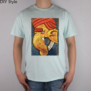 Siporex Art Ganesh T-Shirt Top Lycra Men T Shirt Новый Diy Стиль Хлопок