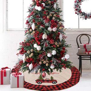 Рождественская елка юбка плед Рождественская елка Bottom украшения автомобиля Рождественская елка платье Xmas Trees Украшение для вечеринок CGY335