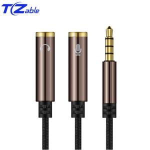 Audio Splitter de 3,5 mm Câble mâle à 2 Port 3,5 mm femelle avec Mic 3.5 Extension Aux Câble adaptateur pour iPhone Haut-parleur Cabo